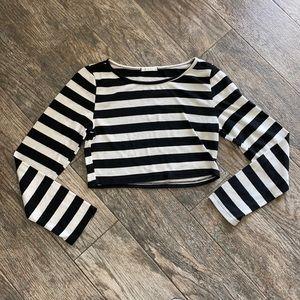 Maru striped crop top
